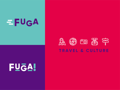 Fuga! Travel & Culture viajes travel agency marca logo mark logo design branding brand