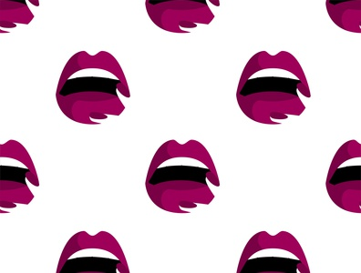Seamless pattern with lips print. Vector illustration with lips. lover lovely love lipstick lips lip kiss illustration glamour girl female fashion design cute cosmetic color beauty beautiful background art