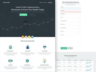 Atriark   Bitcoin investment atriark bitcoins invest ui icons flat responsive