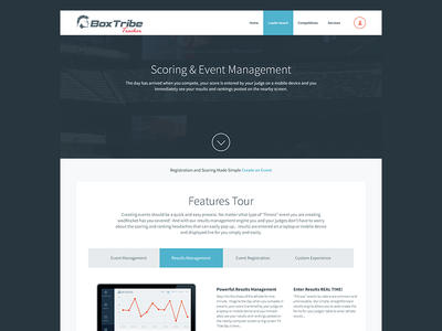 Box tribe tracker box tracker ui responsive user interface