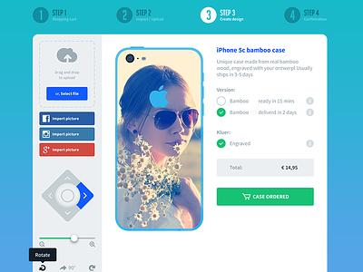 Design your custom case custom design case ios iphone social controls app application ui cart