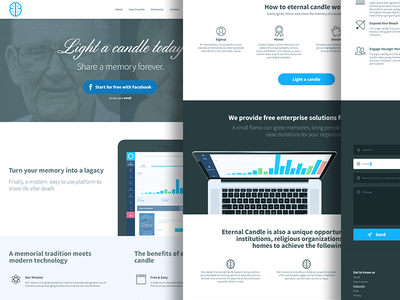 Landing page   share the memory of a loved one freelancer design ui easing animation one page landing