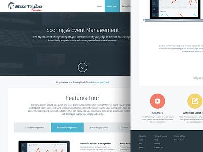 Tracker - Online app application app 2016 flat ux ui listing tracker box