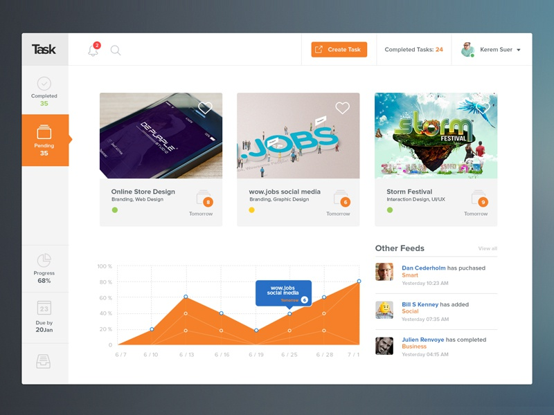 Task Project Management Tool Concept Design By Shab Majeed