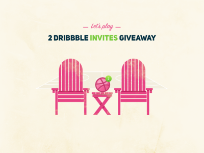2 Dribbble Invites Giveaway design winner welcome game play lets invitation dribbble draft giveaway invites 2