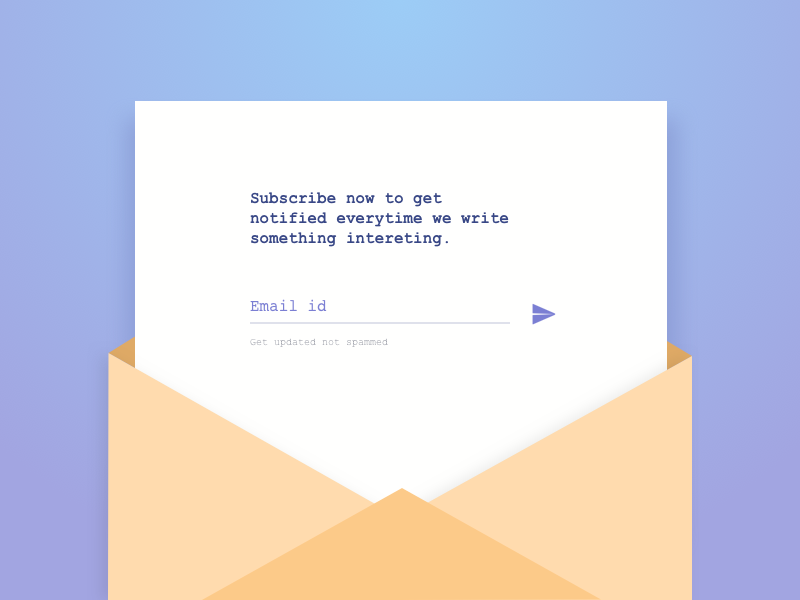 Daily UI 026 - Subscribe notify mail envelope send letter interface ux ui subscribe 026 dailyui