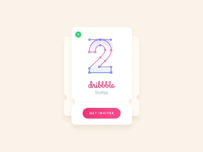 2 Dribbble invites to give away! invite invitation giveaway free dribbble welcome talent player draft designer