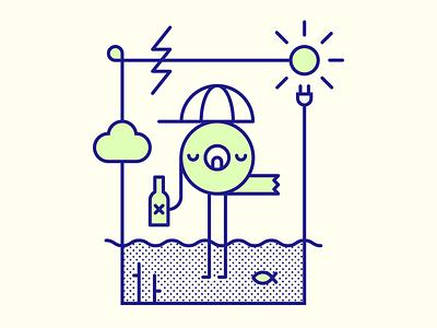 Spring Tape summer tape sea vector studio lithuania graphic design sun cloud icon spring