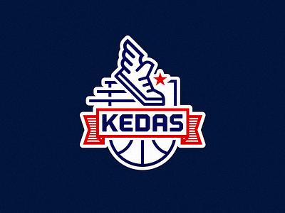 KEDAS basketball team logo logo illustration vector type icon brand mark badge branding identity design basketball