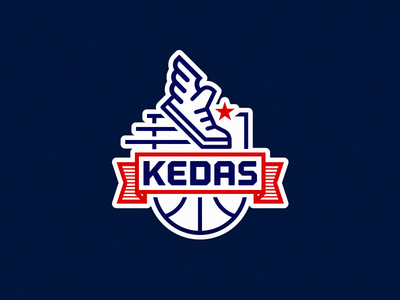 KEDAS basketball team logo logo illustration vector type icon brand mark badge branding identity design basketball
