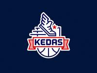 KEDAS basketball team logo
