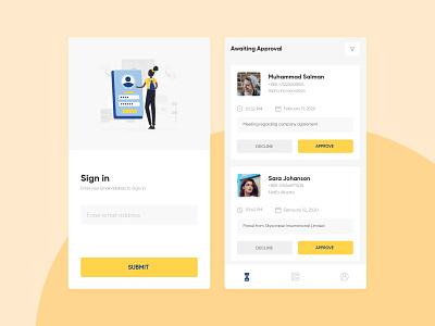 Visitor Management App uidesign uiux visitors management management app mobile design mobile app design mobile app mobile ui mobile
