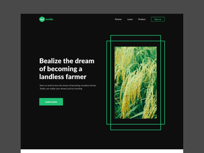 #Exploration -homepage investment website for agriculture ui  ux investmentwebsite investment agriculture ui ux design ux uiux ui design homepage clean website uidesign website design