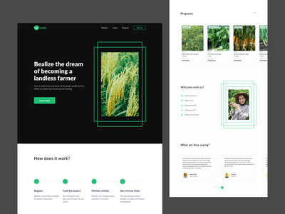 #Exploration - Website Investement Agriculture investement agriculture ui ux design ux uiux ui design homepage clean website uidesign website design