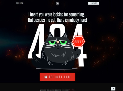 Nick Tzios - 404 Page Design