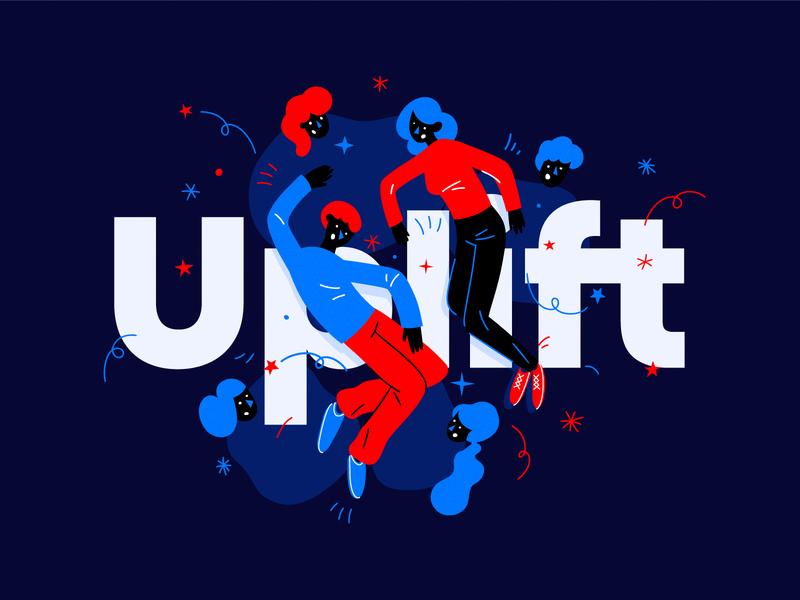 Uplift Graphics artwork package design branding logo design flat vector illustration icon