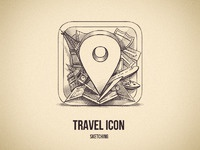 Travel icon sketching