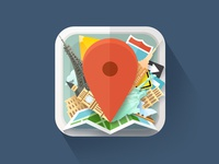Travel Icon icon application travel ios iphone ipad app android places flat style