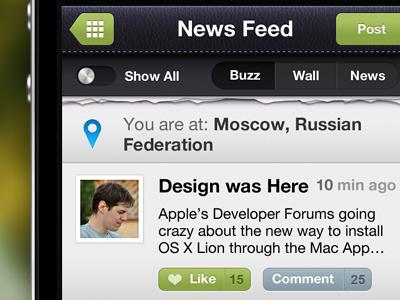 Social App In Progress egoraz feed application iphone news