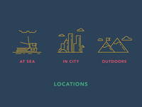 Locations icons