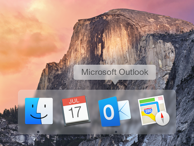 Outlook Icon yosemite microsoft os mac icon outlook dock