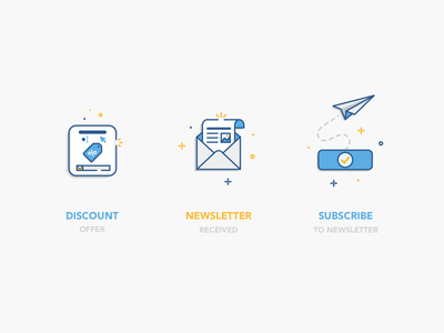 Email campaign offer newsletter vector illustration icon email discount subscribe