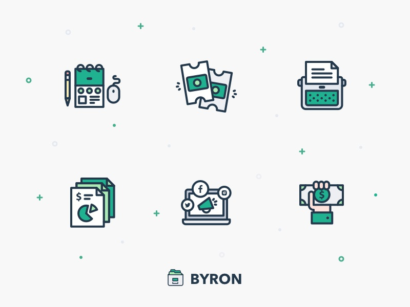 Byron Icons by Egor Kosten
