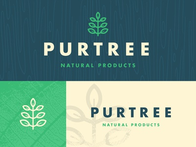 Purtree product clean tree sign design graphic branding logo