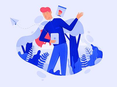 Social Profile woods send egorkosten social chat profile illustration