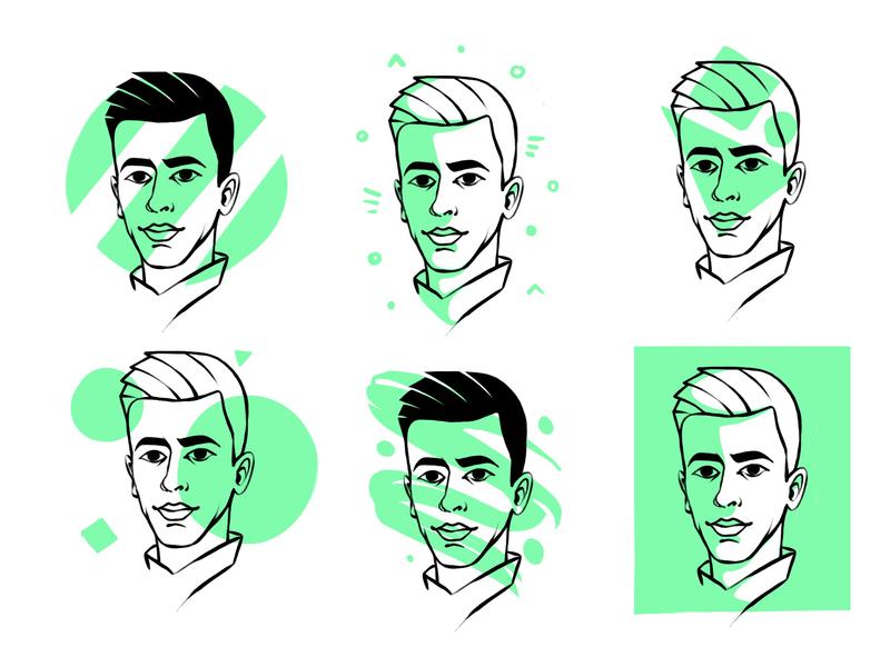 Avatar egor kosten design flat vector illustration icon