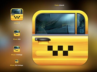 Next Taxi App icon iphone app taxi car door