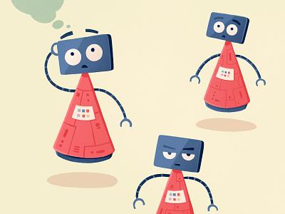 Robot artwork logo character robot design flat illustration
