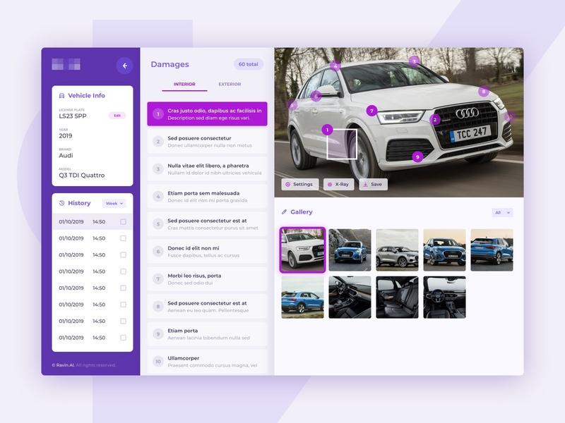Inspect Mode ui interfece uidesign vehicle car landing productdesign product