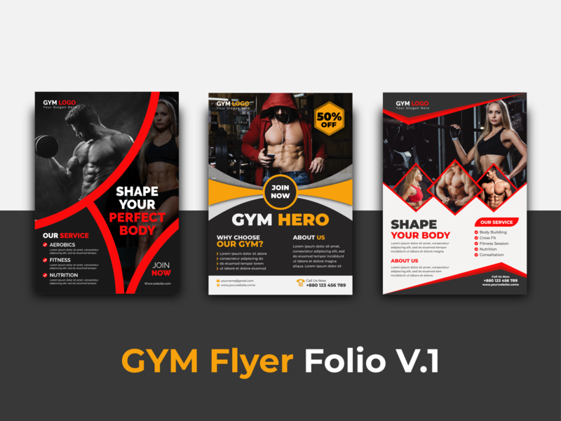 GYM flyer folio V.1 branding covid-19 flyer fitness flyer health flyer gym premium flyer abstrac flyer free taplate annual report professional flyer free flyer banner design flyer mockup creative flyer real estate flyer gym flyer business flyer flyer design idea corporate flyer flyer design