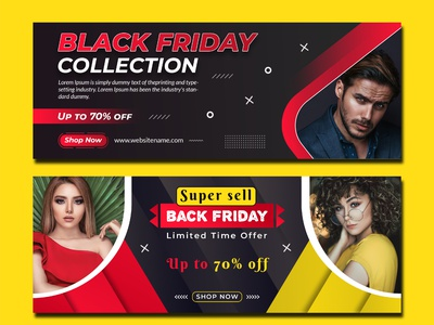 Black Friday Creative Facebook Cover Design Template creative flyer flyer design social media template