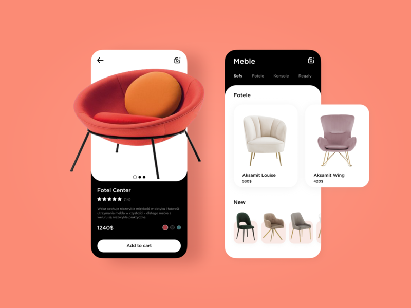 Furniture App fotel sofa design ui shop chair furniture app furniture