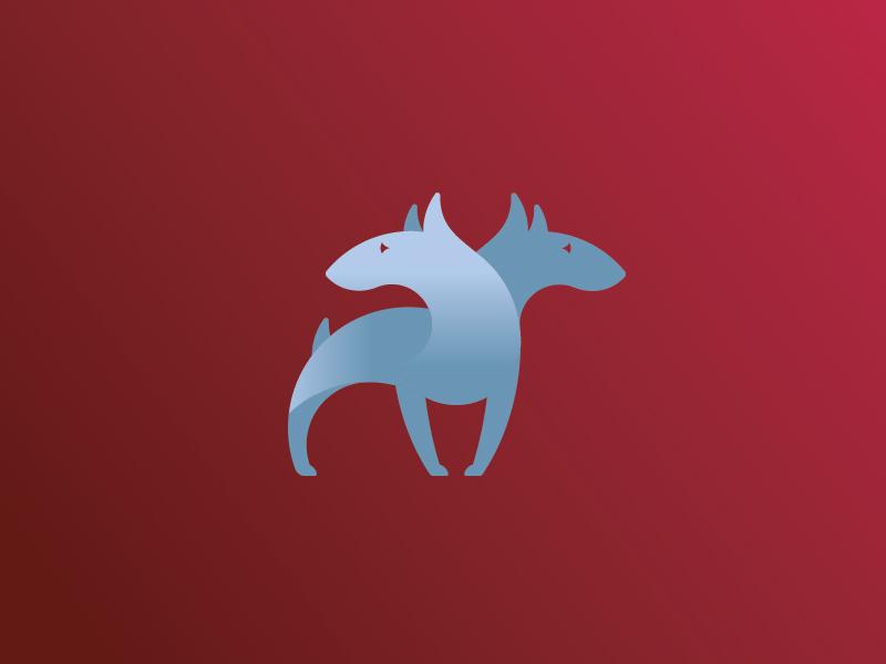 Two Headed Dog dog chimera rejected logomark logo