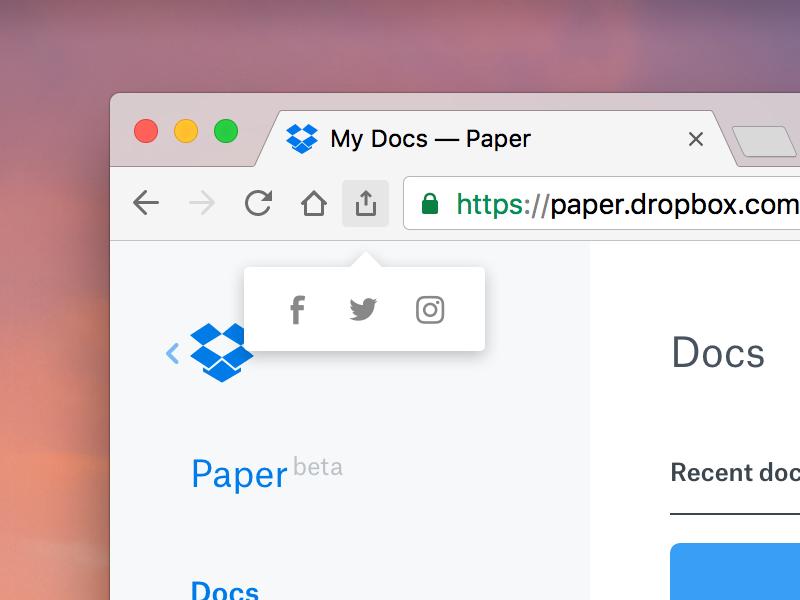 Share Chrome share macos 010 dailyui web ui design chrome google