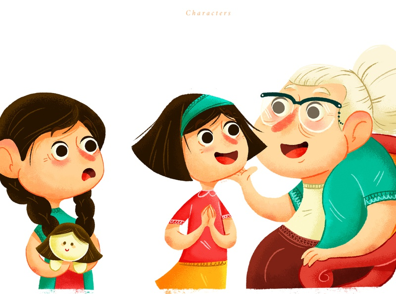 Characters-Las Leyendas de la abuela characterdesign art illustration
