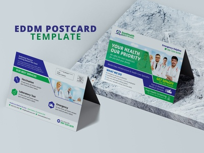 Medical Healthcare Direct Mail Postcard Template