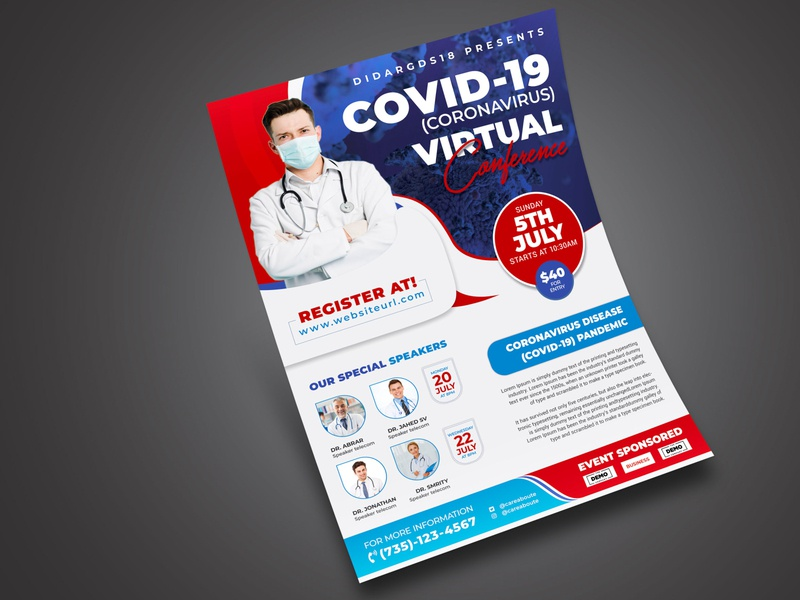 Vitual Coference Flyer / Poster Template