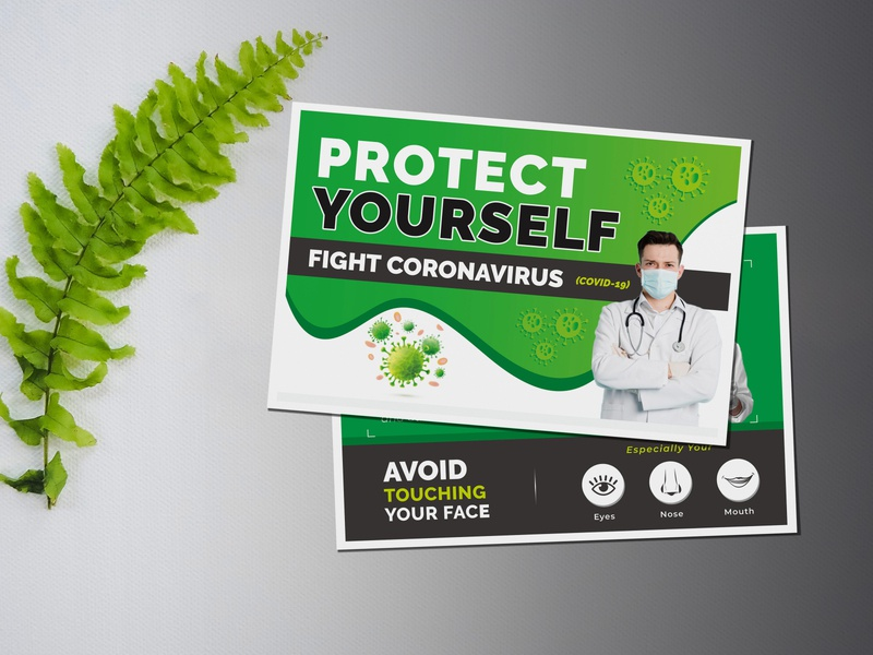 Protect Yourself (COVID-19) Postcard Template