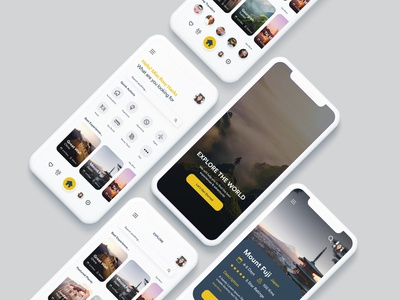 Explore The World - Travelling App UI travellers app travelling app ux app app ui kit ui ui ux designer ui ux design app ui ux app ui