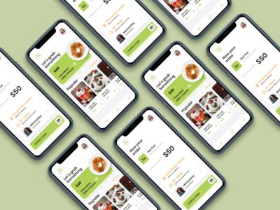 Food Order App UI Concept food ordering app ui food app ui ui ux app app ui kit ui ux designer ui ux design app ui ux app ui
