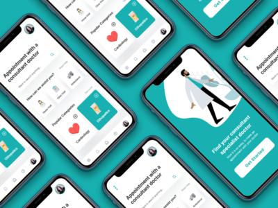 Medical and Patient App UI Design clinic app ui medical app ui medical app ui ux app ui kit app ui ux designer ui ux design app ui ux app ui