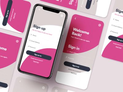 Login Screen UI Design - Version 2 sign in screen login in screen ui ux app ui kit app ui ux designer ui ux design app ui ux app ui