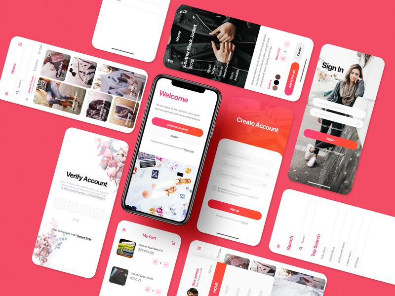 eCommerce Multipurpose UI Kit ecommerce ui shopping ui fashion shopping figma design ui ux app ui kit app ui ux designer ui ux design app ui ux app ui