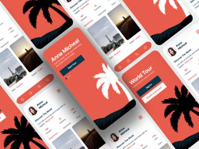 World Explore - Travelling App UI Concept traveler app travelling app ui ux app ui kit app ui ux designer ui ux design app ui ux app ui