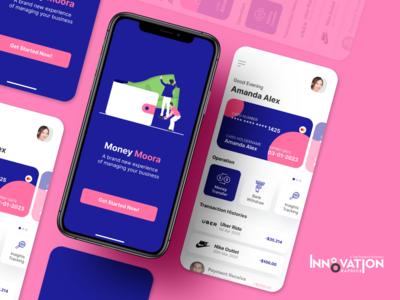 Moora - Money Managing App UI Concept figma money transfer app ui business app ui finance app ui ux ui app ui kit app ui ux designer ui ux design app ui ux app ui