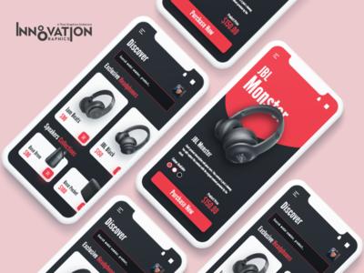 Ecommerce App UI Concept sketch figma ux ui app ui ux designer ui ux design app ui ux app ui